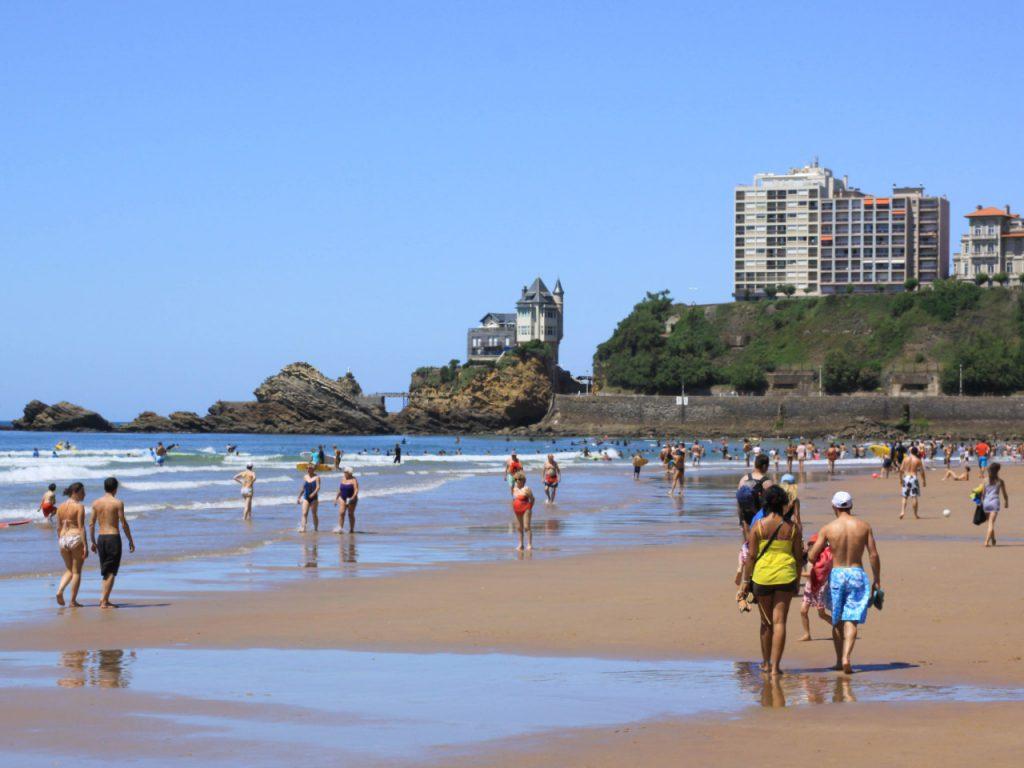 Biarritz - Côte des Basques marée basse